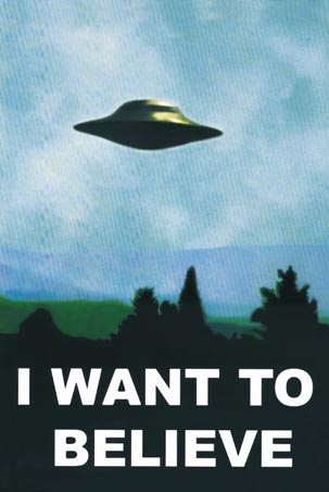 UFOlogy Dead AgainX Files I Want To Believe Poster