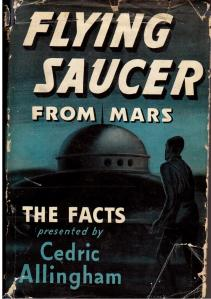My prized copy of Patrick Moore's book Flying Saucer from Mars
