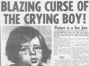 Tears for Fears? Sun headline which kicked off crying boy mania, 1985 (credit: News International)