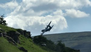 Hedge-hopping 'ghostplane' photographed near Buckden Pike in North Yorkshire (copyright Anita Skinner)