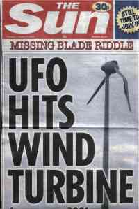 More Sun Fun - the infamous UFO & windfarm splash of January 2009