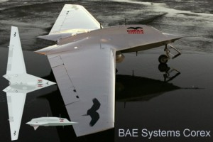 The Corax or Raven UCAV developed by BAE systems and unveiled in 2006 (source: BAE systems)