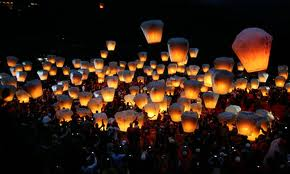 Floating Sky Lanterns were the source of many 'sightings' recorded in the MoD's files from 2003 (credit: Guardian.co.uk]