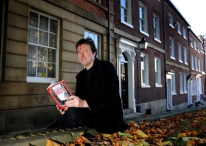 Launching 'Scared to Death' in Sheffield city centre (Credit: Yorkshire Post)