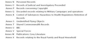 Extract from MoD document 'Guidance to Record Reviewers' (June 2011) - obtained via FOIA