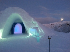 The Snow Hotel near Kirkenes near the border between Norway and Russia.