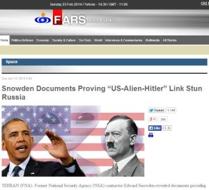 How the Iranian news-agency broke the Nazi/aliens story