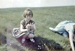 A photograph showing Mrs Templeton and her daughter on the Solway Marshes - is she the 'spaceman'? (Credit: RationalWiki)