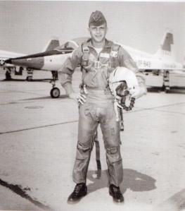 A young Captain Schaffner during flight training in the US (Credit: FlyPast/Michael Schaffner)