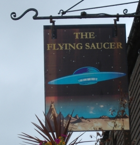 The only time I have been inside a flying saucer - whilst enjoying a pint inside this pub at Gillingham in Kent