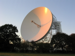 The Lovell radio-telescope at Jodrell Bank, Cheshire, UK. No UFOs sighted despite 65 years of searching the skies (courtesy www.jjb.man.ac.uk)