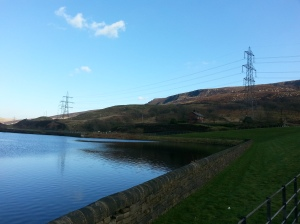 Torside Reservoir looking towards Bramah Edge and Torside Clough, home of the mysterious 'Longdendale Lights' of Derbyshire's High Peak.