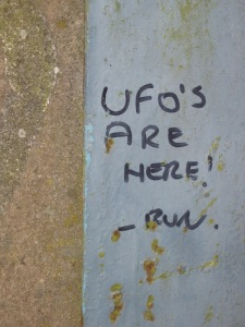 Graffiti spotted on Cradle Hill in 2005 (David Clarke)