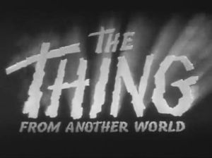 Opening titles from 1951 sci-fi chiller 'The Thing' (credit: moria.co.nz)